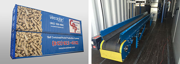 Containerized Pellet Plant System from Vecoplan Midwest